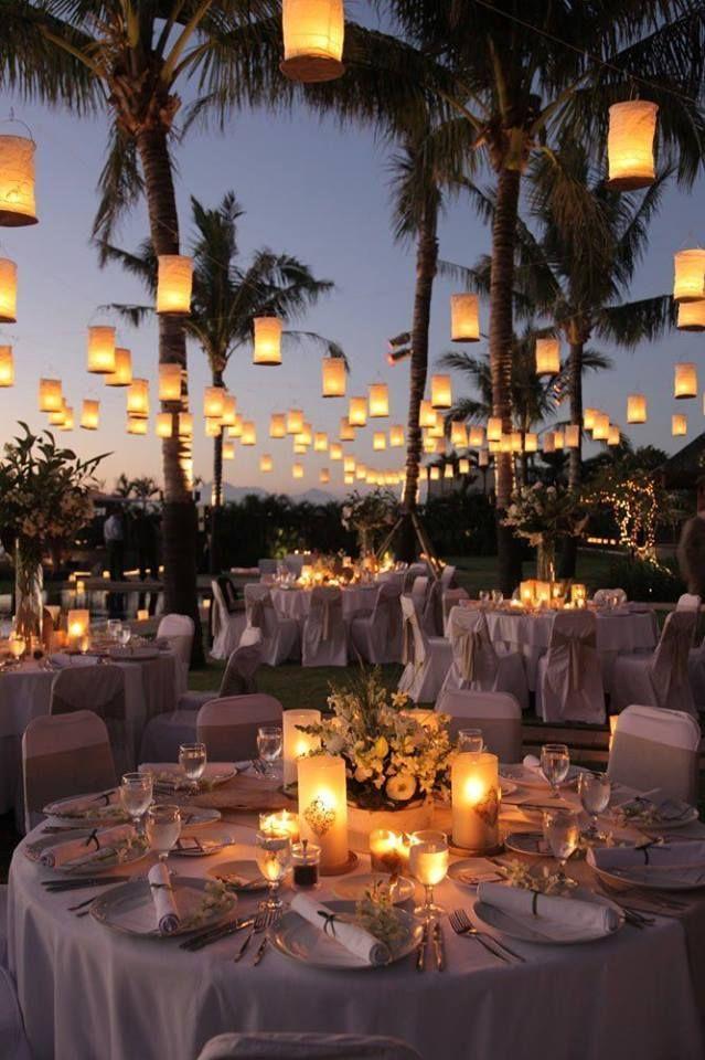 Mira la magia que una buena iluminacion puede darle a tu boda