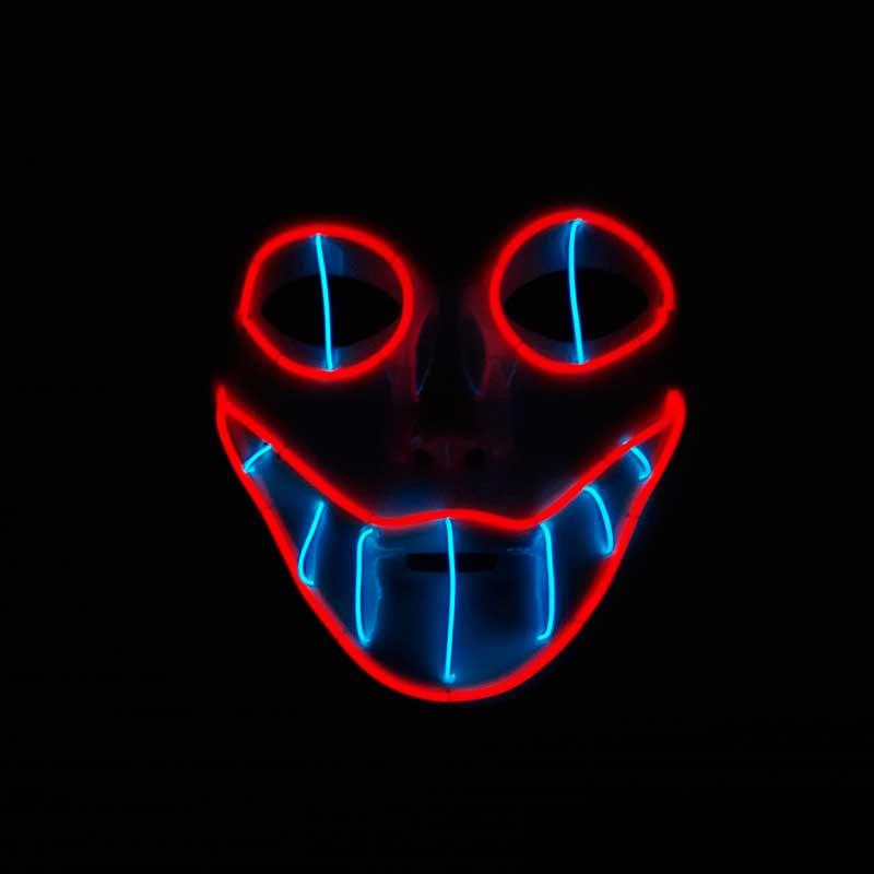 Mascara 1 rojo azul